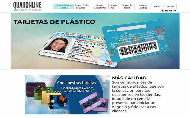 tarjetas de plastico quaronline